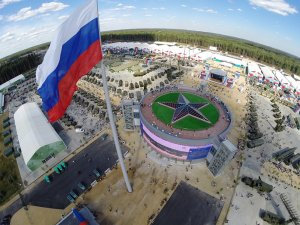 Панорамная съемка международного военно-технического форума Армия 2015 КВЦ ПАТРИОТ