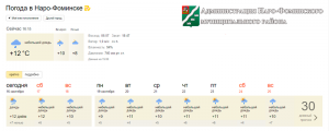 района Москвы погода на завтра в верее наро основная причина