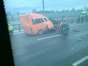 На Киевском шоссе произошло ДТП в районе Селятино