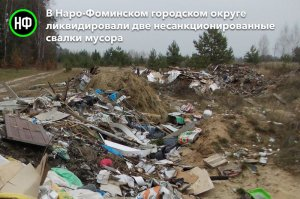 В Наро-Фоминском городском округе ликвидировали две несанкционированные свалки мусора